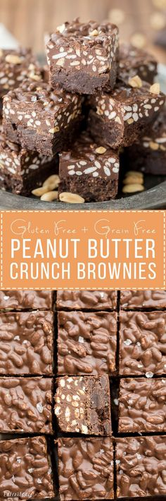 Peanut Butter Crunch Brownies (Gluten Free)