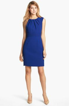 Tahari by Arthur S. Levine Sleeveless Crepe Sheath Dress (Regular & Petite) available at #Nordstrom