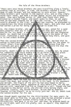 The Tale of The Three Brothers - Harry Potter and the Deathly Hallows. Harry James Potter, Harry Potter Deathly Hallows, Harry Potter Books, Harry Potter World, Deathly Hallows Story, Lord Voldemort, Hogwarts, Slytherin, Movies Wallpaper