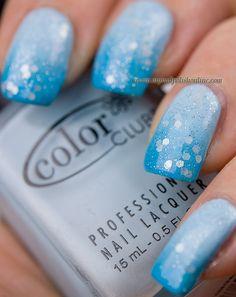 Blue gradient      #nail #nails #nailsart