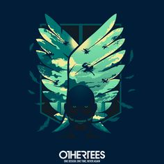 """""""Wings of Freefdom"""" by hyperlixir T-shirts, Tank Tops, Sweatshirts and Hoodies are on sale until December 9th at www.OtherTees.com #AttackOnTitan #AOT #ShingekiNoKyojin #OtherTees #Anime"""