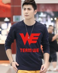 Electronic sports game Team WE t shirt League of Legends mens tee-