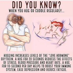 DID YOU KNOW? when you hug or cuddle regularly it is really beneficial for your health. Health And Beauty, Health And Wellness, Health Fitness, Health Logo, Health Goals, Health Motivation, Health Diet, Effects Of Stress, Health Facts