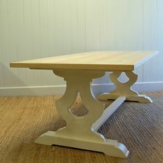 Gustavian Farm Table in Two Sizes - Gorgeous beach house furniture