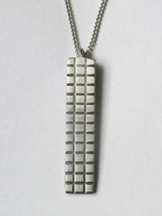 Recycled Fork Necklace - Cross Hatch Pendant by Sarah Graham Jones | HERE TODAY HERE TOMORROW