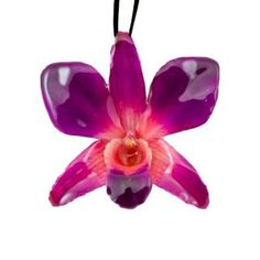 Real Orchids Preserved in Resin- Pink/Purple-Dendorbium Necklace/ Brooch