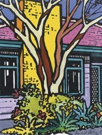 Suburbia by Howard Arkley Magnum Opus, Mondrian, Howard Arkley, Musica Punk, Nz Art, Great Works Of Art, Powerful Art, Cityscape Art, Fantasy Forest