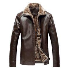 64.56$  Buy here - http://diafv.justgood.pw/go.php?t=198360005 - Faux Fur Collar Zip-Up PU Biker Jacket