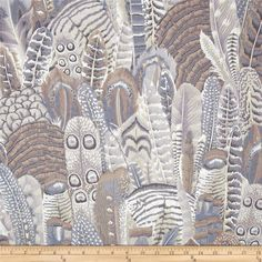 Kaffe Fassett Collective Feathers Grey