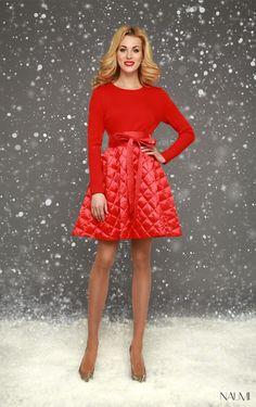 Джерси платье NAUMI WF15 J014 красный
