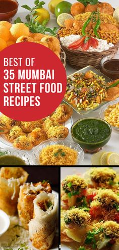 Mumbai street food is one of my favorite types of food out there! The chaat recipes that are the most popular are the ones you will find in this collection of 35 Mumbai street foods. These snacks range from recipes for pani puri to falooda and even vegetarian samosas! Try these recipes this week! #chaat #Mumbai #streetfood #SouthIndianFood #vegetarian
