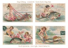Wings of Whimsy - 1er Avril 1908 - FREE French Cherub Printable Collage Sheet