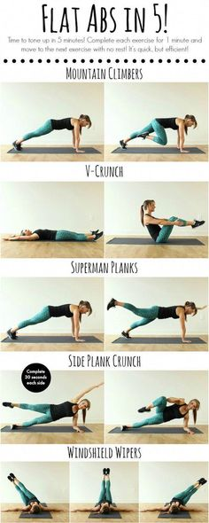 Flat abs in 5 minutes - great idea for ab workout! Flat abs in 5 minutes – great idea for ab workout! Flat abs in 5 minutes – great idea for ab workout! Fitness Workouts, Sport Fitness, Body Fitness, Fitness Motivation, Health Fitness, Short Workouts, Fitness Plan, Fitness Equipment, Enjoy Fitness