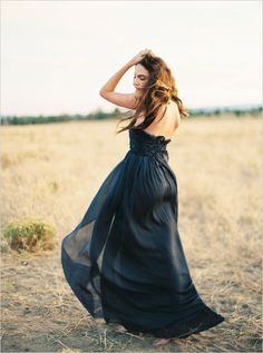 Alternate black wedding dress