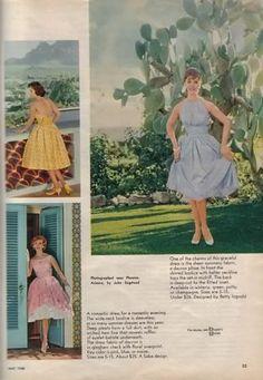 0acbd4599 vintage patterns Anos 50, Roupas Retro, Roupas De Vintage, Moda Vintage,  Moda