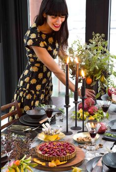 A Little Inspiration From Holiday Tables Past - Tabletop design by Athena Calderone. Photo by Chloe Crespi.