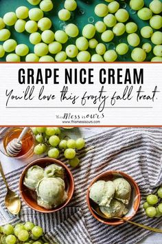 The Nice Cream craze has blown up in recent years, and for good reason. It's a delicious, plant-based, way to get your ice cream fix while still eating healthy. This Grape Nice Cream is one of our favorite recipes for grapes because it only requires 4 basic ingredients and is only 40 calories per serving! No tricks here...just a frost fall treat. #thismessisours @cagrown @grapesfromca #nicecream Grape Recipes, Salad Recipes, Clean Eating Recipes, Eating Healthy, Grape Ice Cream, Rotisserie Chicken Salad, Honey Mustard Vinaigrette, Dried Figs