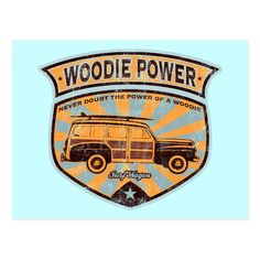 Surf City here we come! Cool retro design featuring the Woodie ( or Woody ) - the iconic wood-paneled surf wagon. Weathered, vintage look. California Logo, Woody Wagon, Vintage Surf, Surf City, Retro Design, Custom Posters, Postcard Size, Custom Framing, Paper Texture