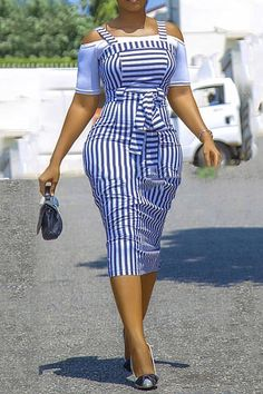 tidebuy / Office Lady Bowknot Dress A-Line Pullover Womens Two Piece Set African Attire, African Wear, African Fashion Dresses, African Dress, Fashion Outfits, Curvy Outfits, Women's Fashion, Office Dresses For Women, Maila