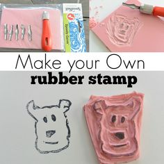 How to Make Your Own Rubber Stamp | decorandthedog.net | #stamp #stampart