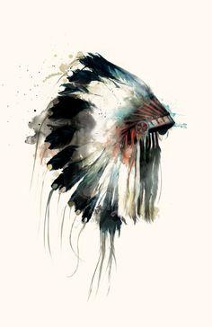 Headdress art  http://society6.com/product/Headdress-G3U_Print#1=1