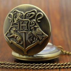 Retro Hogwarts pocket watch