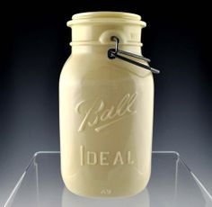 "Find out the story behind this ultra rare ""Milk Glass"" Ball bicentennial jar"