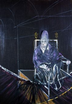 Francis Bacon Pope I - Study after Pope Innocent X by Velasquez 1951  Oil on canvas  197.8 x 137.4 cm art-Corpus: