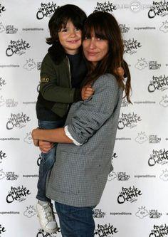 Caroline de Maigret and her son