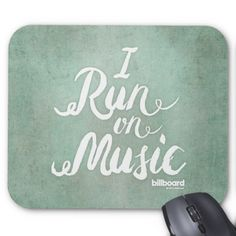 I Run On Music Mouse Pad