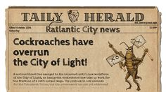 Cockroaches have overrun the City of Light!  View Article >> http://tailyherald.com/en/2016/10/08/cockroaches-have-overrun-the-city-of-light/  #tailyherald #jetrat #rattastic #news #business #graphics #newspaper #unity #developer #angrycatstudios #pc #game #videogame #rat #cockroach #city #light #immigrant #government #snails