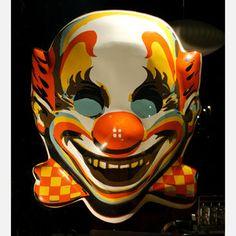 Creepiest vintage clown mask EVER!!!!.....