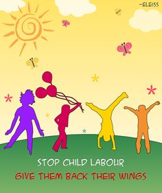Stop child labour. Children's day greeting