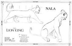 Lion King concept art Nala character sheet