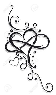 Image result for tatuaje corazon infinito