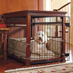 Luxury Mahogany Pet Residence Dog Crate not big enough for my dogs. Cat Crate, Crate Bed, Dog Crate End Table, Goldendoodle, Cavapoo, Yorkie, Portable Dog Kennels, Pet Barrier, Dog Kennel Cover