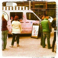 Cupcake Diner Food Trucks, Toronto, Cupcake, Places To Visit, Van, Cupcakes, Cupcake Cakes, Vans, Cup Cakes