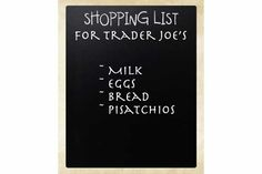 Clean Eating shopping list for Trader Joe's