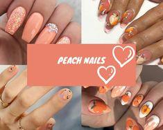 80 ideas to create the best Halloween nail decoration - My Nails Diy Nails, Swag Nails, Cute Nails, Manicure, Bright Red Nails, Peach Nails, New Nail Polish, Types Of Nails, Nail Decorations