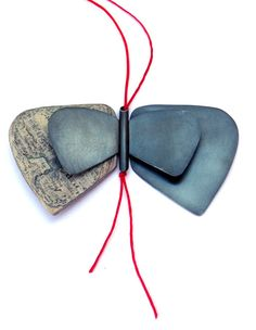 Contemporary Necklace | Butterfly pendant in oxidized silver with paper and thread. MARTA ROCA SOLÉ 2013