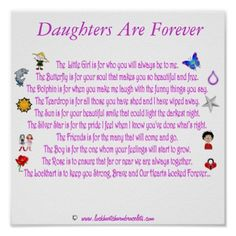 Happy Birthday Dear Daughter Poem | Daughters Are Forever Themed Poem with Graphics Poster