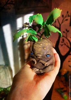 Купить Mandrake - коричневый, мандрагора, корень, мифическое существо, фоамиран, полимерная глина, фоамиран