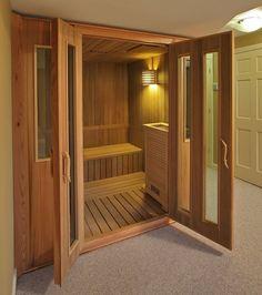 Here are the And Cozy Home Sauna Design Ideas. This article about And Cozy Home Sauna Design Ideas was posted … Diy Sauna, Sauna Steam Room, Sauna Room, Sauna House, Basement Sauna, Basement Remodeling, Basement Ideas, Indoor Sauna, Sauna Design