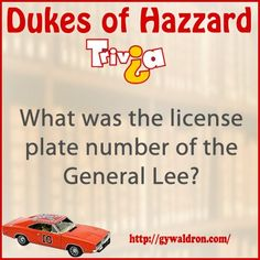 What was the license plate number of the General Lee? #DukesofHazzard