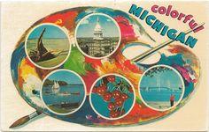 Vintage Michigan COLORFUL MICHIGAN PROMO  palette
