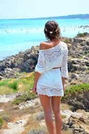 Hasil gambar untuk white dress to beach