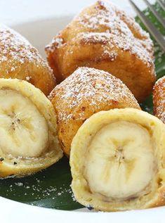 13 Desserts You Can Make in an Air Fryer Air Fryer Recipes Banana A Milanesa, Banana Frita, 13 Desserts, Delicious Desserts, Dessert Recipes, Dessert Food, Desserts Frits, Breakfast Recipes, Banana Breakfast