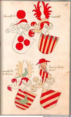 Bruderschaftsbuch des jülich-bergischen Hubertusordens Niederrhein, um 1500 Cod.icon. 318  Folio 76r