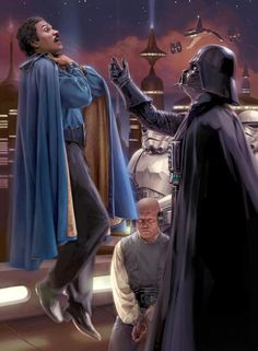 The Star Wars Movies Scenes from The Empire Strikes Back: Darth Vader & Lando Calrissian Anakin Vader, Vader Star Wars, Star Trek, Darth Vader, Anakin Skywalker, Star Wars Pictures, Star Wars Images, Star Wars Fan Art, The Nerd