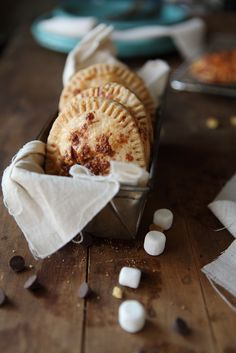 S'mores Hand Pies.  You'd be able to cut time with store bought crust, making this a pretty quick dessert/snack.